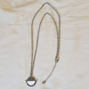 BaubleBar Silver Double Sided Pendant Necklace